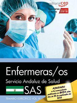 Enfermeras/os. Servicio Andaluz de Salud (SAS). Temario específico. Vol. III.
