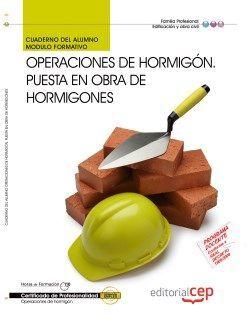 Cuaderno del certificado de operaciones de hormigon