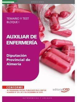 Auxiliar de Enfermería Diputación Provincial de Almería. Temario y Test Bloque I