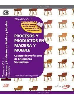 Comprar temario oposiciones profesor de madera y mueble