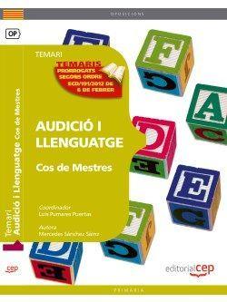 Cos de Mestres. Audició i Llenguatge. Temari