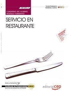 Cuaderno del certificado profesional de servicios de restaurante