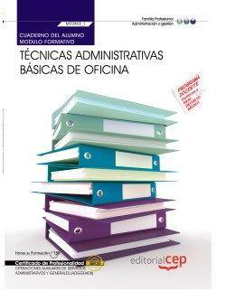 Cuaderno del certificado profesional de auxiliar administrativo