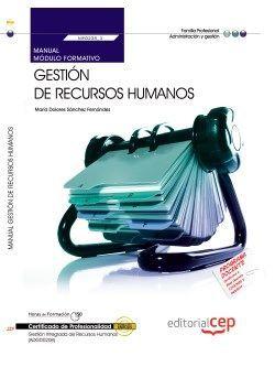 Manual. Gestión de Recursos Humanos (MF0238_3). Certificados de profesionalidad. Gestión integrada de recursos humanos (ADGD0208)
