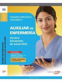 Temario oposiciones auxiliar de enfermeria servicio extremeño de salud