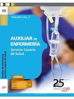 Auxiliar de Enfermería Servicio Canario de Salud (SCS). Temario Vol. II.
