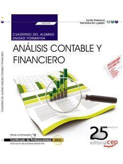 Cuaderno del alumno. Análisis contable y financiero (UF0333).  Certificados de Profesionalidad. Financiación de empresas (ADGN0108)