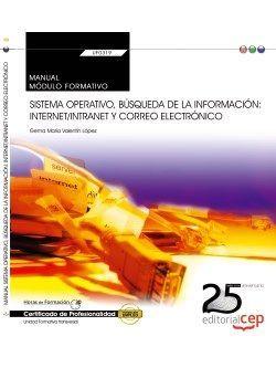 Manual. Sistema operativo, búsqueda de la información: Internet/Intranet y Correo Electrónico (Transversal: UF0319). Certificados de profesionalidad