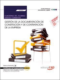Cuaderno del certificado profesional de asistencia documental