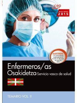 Enfermera/o. Servicio vasco de salud-Osakidetza. Temario. Vol.II