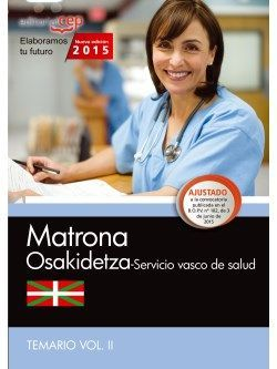 Matrona. Servicio vasco de salud-Osakidetza. Temario Vol.II
