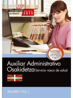 Temario oposiciones auxiliar administrativo osakidetza