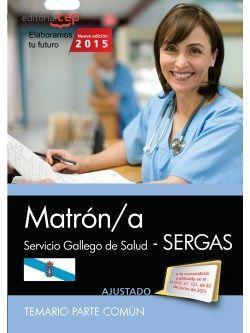 Temario comun oposiciones matrona SERGAS