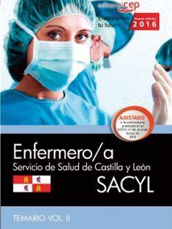 Enfermero/a. Servicio de Salud de Castilla y León (SACYL). Temario Vol.II