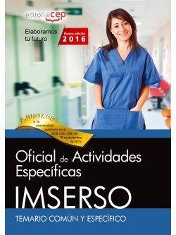 Temario oposiciones Oficial de Actividades IMSERSO