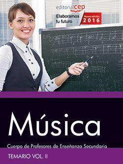Comprar temario oposiciones profesor de musica
