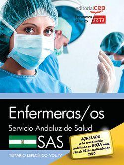 Enfermeras/os. Servicio Andaluz de Salud (SAS). Temario específico. Vol. IV