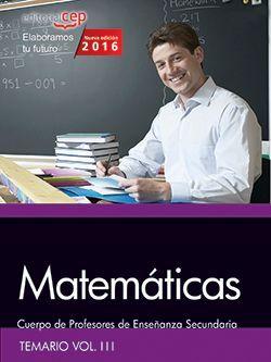 Temario oposiciones profesores matematicas
