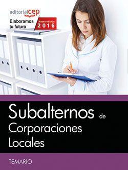Subalternos de Corporaciones Locales. Temario