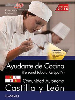 Ayudante de cocina (Personal Laboral Grupo IV). Comunidad Autónoma Castilla y León. Temario