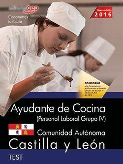 Ayudante de cocina (Personal Laboral Grupo IV). Comunidad Autónoma Castilla y León. Test