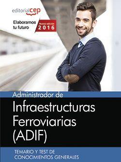 Administrador de Infraestructuras Ferroviarias (ADIF). Temario y test de conocimientos generales