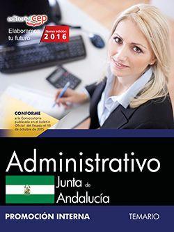Administrativo (Promoción interna). Junta de Andalucía. Temario