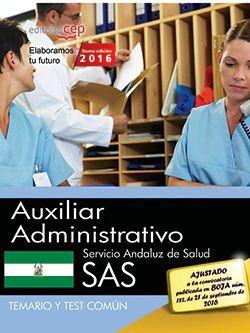 Temario + test oposiciones auxiliar administrativo sas