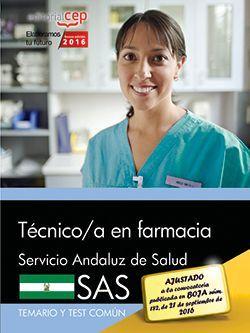 Temario + test oposiciones tecnico de farmacia sas
