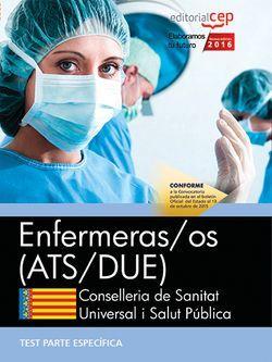 Enfermeras/os. Conselleria de Sanitat Universal i Salut Pública. Generalitat Valenciana. Test Específicos