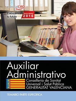 Temario oposiciones auxiliar administrativo sanidad valencia