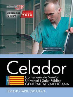 Celador. Conselleria de Sanitat Universal i Salut Pública. Generalitat Valenciana. Temario Parte específica