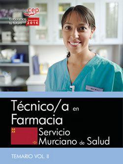 Oposiciones temario técnico en farmacia servicio murciano