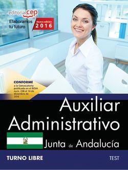 Auxiliar Administrativo (Turno Libre). Junta de Andalucía. Test