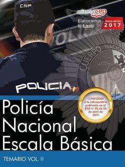 Policía Nacional Escala Básica. Temario Vol. II.