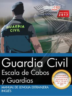 Manual de Lengua Extranjera. Inglés. Escala de Cabos y Guardias de la Guardia Civil