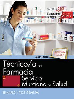 Técnico/a en farmacia. Servicio Murciano de Salud. Temario y Test General