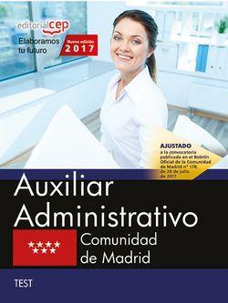 Auxiliar Administrativo. Comunidad de Madrid. Test