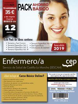 Pack de libros y Acceso gratuito. Enfermeros/as. Servicio de Salud de Castilla - La Mancha (SESCAM)
