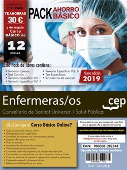Pack de libros y Acceso gratuito. Enfermeras/os. Conselleria de Sanitat Universal i Salut Pública. Generalitat Valenciana