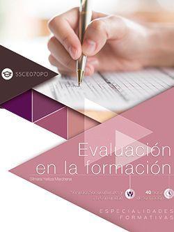 Evaluación en la formación (SSCE070PO). Especialidades formativas