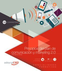 Principios del plan de comunicación y marketing 2.0 (COMM070PO). Especialidades formativas