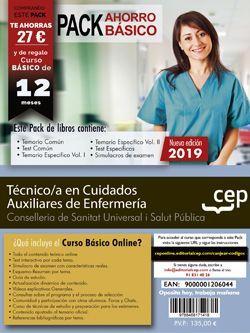 Pack de libros y Acceso gratuito. Técnico/a en Cuidados Auxiliares de Enfermería. Conselleria de Sanitat Universal i Salut Pública. Generalitat Valenciana