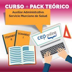 Curso + Pack Teórico. Auxiliar Administrativo. Servicio Murciano de Salud