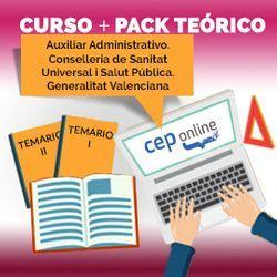 Curso + Pack Teórico. Auxiliar Administrativo. Conselleria de Sanitat Universal i Salut Pública. Generalitat Valenciana