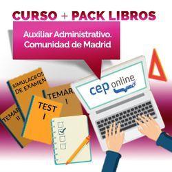 Curso + Pack Libros. Auxiliar Administrativo. Comunidad de Madrid