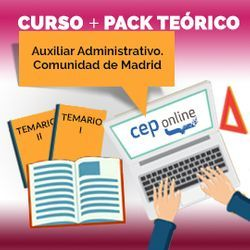 Curso + Pack Teórico. Auxiliar Administrativo. Comunidad de Madrid