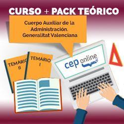 Curso + Pack Teórico. Auxiliar de la Administración. Generalitat Valenciana