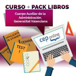 Curso + Pack Libros. Auxiliar de la Administración. Generalitat Valenciana