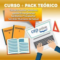 Curso + Pack Teórico. Técnico Auxiliar Sanitario, opción Emergencias Sanitarias/Conductor. Servicio Murciano de Salud